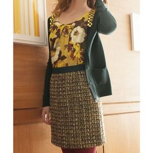 Kate Spade Sz 6 Kylie Metallic Tweed Skirt EUC